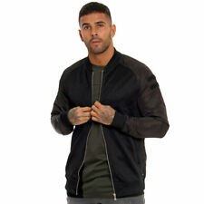 Only & Sons Olly Bomber Jacket Nylon Sleeve Lightweight Coat Medium Black Zip Up