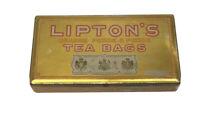 Vintage Advertising Metal Food Tin LIPTON'S Orange Pekoe Tea Bags