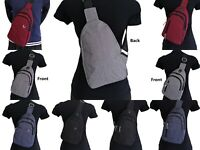 Men Women Travel Hiking Utility Shoulder Cross Body Backpack Sling Chest Bag
