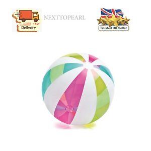 "Giant Intex 42"" Inflatable beach ball Colourful strip design Jumbo ball-107cmNEW"