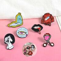 Pill Eye Lip Breastpin Enamel Piercing Bag Badge Collar Brooch Lapel Pin Corsage