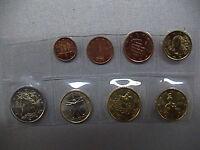 ITALIA 2005 SERIE COMPLETA SET 8 MONETE EURO COINS UNC UNCIRCULATED by MINT ROLL