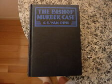 The Bishop Murder Case by S.S. Van Dine. First edition in black cloth 1929