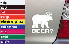 Beer Hunting Vinyl Sticker Decal Car-Truck Laptop-Netbook 1471