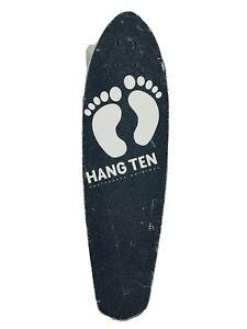 """Hang Ten 28"""" Inch Skateboard Black Feet Logo California Original"""
