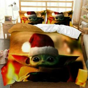 QUILT COVER & PILLOW CASES BEDDING SET ABOUT YODA BABY SINGLE DOUBLE KING SIZE!!