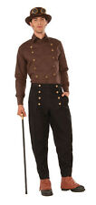 """Steampunk Brown Shirt Fancy Dress Costume Prop - Up To 44"""" Chest"""
