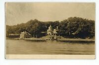 RPPC Mansion & Boat House THOUSAND ISLANDS NY Vintage Real Photo Postcard