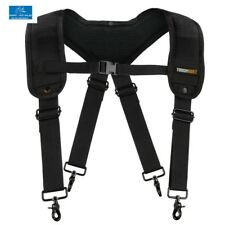 Padded Suspenders Straps Adjustable Carpenter Contractor Work Tool Belt Rig New