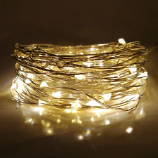 LED Fairy Lights- 33 Foot Battery Operated With Warm White 100 Micro LED Lights