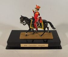 Napoleonic Toy Soldier on Horseback - 1810 Red Lancers - Made in France - as is