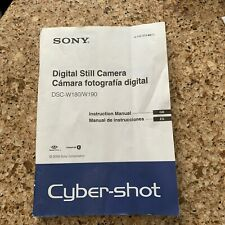 Sony Cyber-shot Dsc W180 W190 Camera Instruction Book / Manual / User Guide