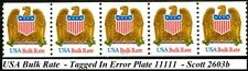 Eagle & Shield W/A USA Bulk Rate Tagged in Error PNC5 PL 11111 Scott's 2603b