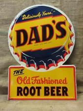 Vintage Embossed Dad's Root Beer Sign > Antique Signs Soda Cola Pop 9760