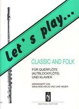 Let's play... classic and folk für Querflöte (Altblockflöte) und Klavier