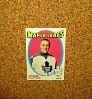 1971-72 Topps Hockey #10 Jacques Plante (Toronto Maple Leafs)