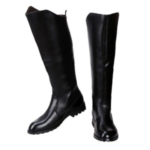 Mens Black Knee High Riding Boots Knight Boots Motorcycle Biker Casual Shoes L
