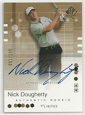 2002 UD SP Nick Dougherty Limited Gold Rookie Autograph 091/100 Signature