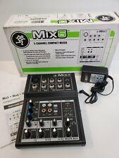 Mackie Mix5 5-Channel 2-band EQ Portable Live Studio Compact Mixer