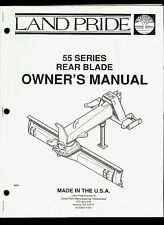 Land Pride 55 Series Rear Blade Illustrated Parts List Amp Owners Manual