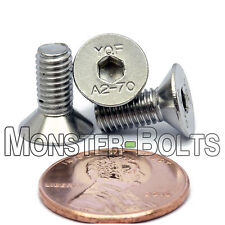 (10) M5 x 12mm  Stainless Steel Flat Head Socket Caps Screws A2 DIN 7991 5mm 0.8