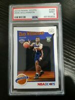 2019/20 Panini Hoops ZION WILLIAMSON TRIBUTE RC/ROOKIE PELICANS #296 PSA 9 MINT