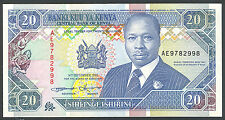 KENYA - 20 SHILLINGS 1993 Banknote Note - P 31a P31a (UNC)