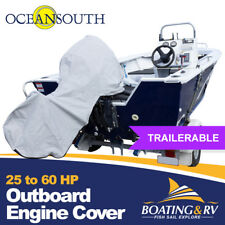 25-60hp Full Length Outboard Engine Cover Protection Motor Trailerable Towing