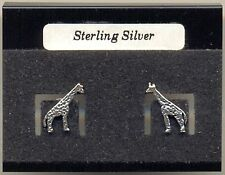 Giraffe Sterling Silver 925 Studs Earrings Carded