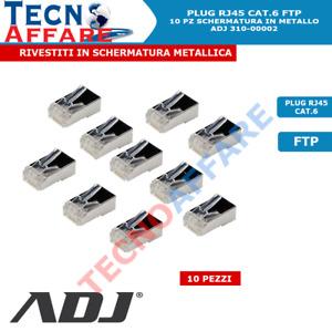 Connettore RJ45 Cat6 Schermato FTP Plug per Cavo di Rete Ethernet Lan ADJ