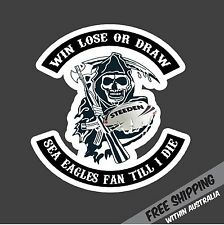 SEA EAGLES FAN TILL I DIE Sticker Decal NRL Footy Rugby League Manly Car Ute