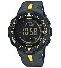 Casio Protrek Triple Sensor Tough-Solar Blk/Yellow Watch PRG300-1A9