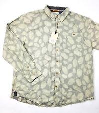 Free Planet Men's Cotton Grey Short Sleeve Button Down Shirt- Size 3X