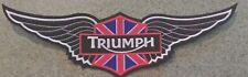 TRIUMPH MOTORCYCLES 12 INCH WING PATCH IN  BLACK