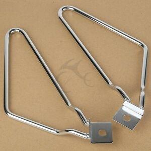 SaddleBag Bracket Support Fit For Harley FXSTC Softail Custom Fat Boy FXST FLSTF