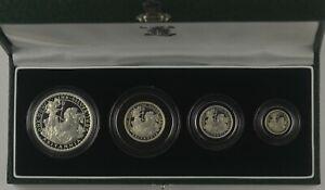 1997 SILVER PROOF BRITANNIA 4 COIN COLLECTION -  box coa