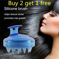 Silicone Scalp Shampoo Massage Brush Washing Massager Shower Head Hair Comb*aaa