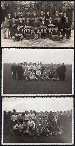 839 - Rugby - Lotto di 3 fotografie + custodia - Bexleyheath (Inghilterra), 1938