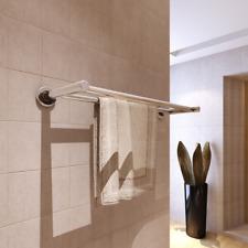 Bathroom Towel Rack Stainless Stell Holder Rail Chrome Bar Wall Mounted 1 Shelf