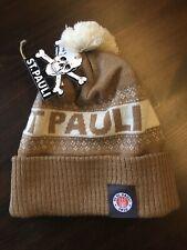 FC St. Pauli Mütze SANKT PAULI Ecru  mit Logo neu Bommelmütze uni ovp