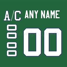OHL Plymouth Whalers 97-09 Green Hockey Jersey Customized Number Kit un-stitched