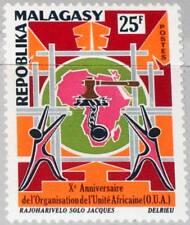 MADAGASCAR MALAGASY 1973 682 488 Organization for African Unity Map Karte MNH