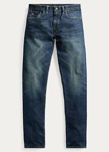 Ralph Lauren RRL Grant Slim Narrow Distressed Sanforized Jeans 32 x 34 New