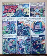 Beyond Mars by Jack Williamson - scarce full tab Sunday comic page Sept 27, 1953