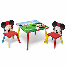DELTA CHILDREN DISNEY MICKEY MOUSE KIDS WOODEN TABLE & CHAIRS BEDROOM / PLAYROOM