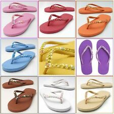 THONGS Flip-Flops Sandals Sz:5,6,7,8 Women Girls Decorated SEQUIN*Multi-Colours*