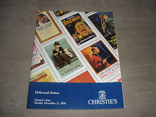 VINTAGE HOLLYWOOD CHRISTIE'S 1990 FULL COLOR 271 MOVIE POSTER  PRINTS RARE
