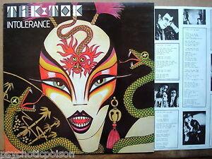TIK & TOK – Intolerance  UK-LP Survival  SUR LP 008 With Gary Numan on 2 tracks