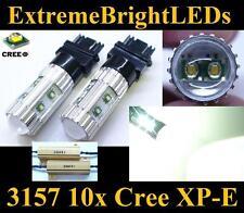 TWO HID WHITE 50W 3156 3157 10x Cree XP-E Turn Signal Lights + 2 Load Resistors
