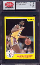 1986 STAR CO. COURT KINGS #17 MAGIC JOHNSON (HOFer) L.A. LAKERS SCD 7.5 NM+